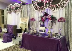 Masquerade Quinceañera Party Ideas | Photo 1 of 16 | Catch My Party