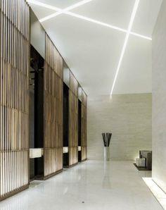 Instead of regular florescent lights. 🏡 31 Epic Gypsum Ceiling Designs For Your Home Design Entrée, Flur Design, Lift Design, Design Hotel, Design Ideas, Design Trends, House Design, Lobby Interior, Interior Lighting