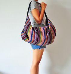 Handmade Woven Hobo bag Hippie bag Bag Crossbody by jayjaythai