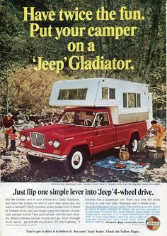 1966 Jeep Gladiator Ad - National Geographic July 1966