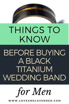 Things to know before buying a black titanium wedding band
