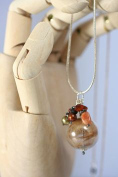 Baby's First Haircut. Glass Orb Pendant.