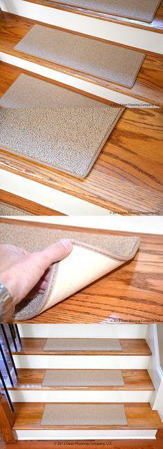 Stair Treads 175517: Dean Custom Pet Friendly Non Slip Diy Carpet Stair  Treads