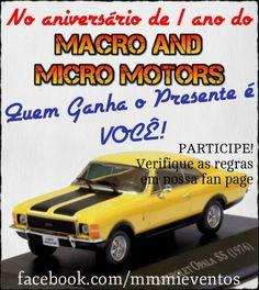 Promoção de Aniversário de 1 ano do Macro And Micro Motors!  http://mmmieventos.blogspot.com.br/2014/02/promocao-de-aniversario-de-1-ano-do.html