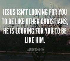 Amen! To be a follower of Jesus Christ, we need to look to Jesus and not man.