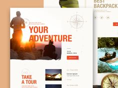 WorldTravel – Landing Page by Outcrowd Site Design, Ux Design, Web Design Inspiration, World Traveler, Lorem Ipsum, Landing, Website, Grief, Design Websites