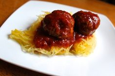 Paleo Italian Meatballs... Though a little dense -- these were delicious over spaghetti squash! I used bison... will do venison next time.