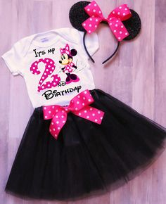 Minnie Mouse Birthday Outfit Minnie Outfit Minnie Tutu