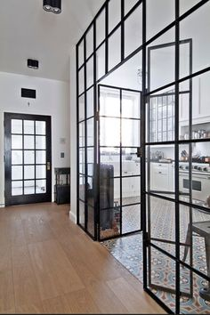 Glass enclosed kitchen