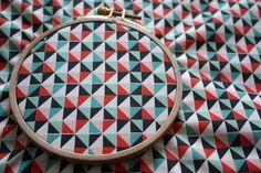 Geometric Triangle Fabric