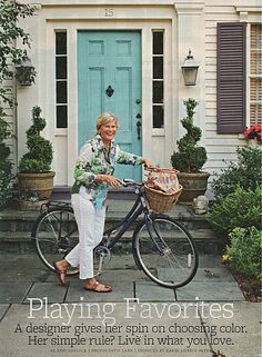 Turquoise Front Door Live In What You Love
