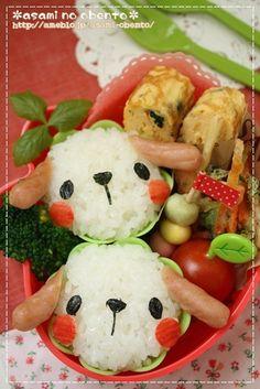 Fun food Kids Onigiri sausage doggy bento reisbällchen hund hündchen animals tiere würstchen bento unterwegs