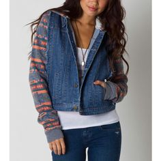 O'NEILL Johnny Womens Denim Jacket ($80) ❤ liked on Polyvore