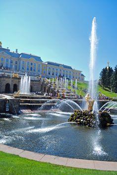 Peterhof,  Hercules Fountain,  Saint Petersburg