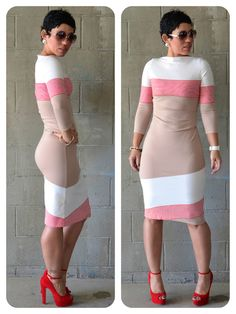 #DIY Dress Using Color-Blocked Fabric + Check Me Out!