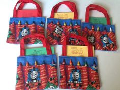 Nine Day Out with Thomas the Train Children's Crayon Bag and Customized Paper, Birthday Party Favor by JustSomethingSpecial on Etsy https://www.etsy.com/listing/248189986/nine-day-out-with-thomas-the-train