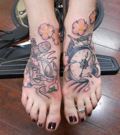 compass tattoo on foot - 50 Awesome Foot Tattoo Designs  <3 <3