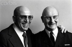 American actor Telly Savalas (left) who plays Kojak in the television series, pictured at Capital Radio Headquarters at Euston Tower, London, April 1975