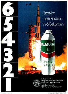 Original-Werbung/ Anzeige 1969 - APOLLO 11 / PALMOLIVE RASUR - ca. 180 x 240 mm