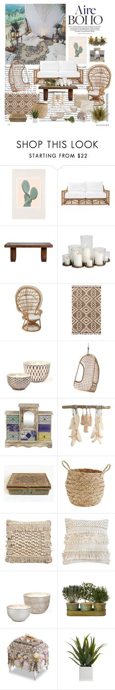 """""""Aire Boho"""" by dezaval ❤ liked on Polyvore featuring interior, interiors, interior design, home, home decor, interior decorating, Wilder California, Serena & Lily, Jaipur and Bambeco"""