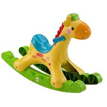 The Fisher-Price Rockin' Tunes Giraffe is the only rocker to recognize baby's movements and encourage rocking while helping baby to balance! The Rockin' Tunes Giraffe will sense baby's movements and respond with fun phrases