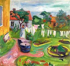 Edvard Munch ~ Clothes On A Line In Åsgårdstrand, 1902