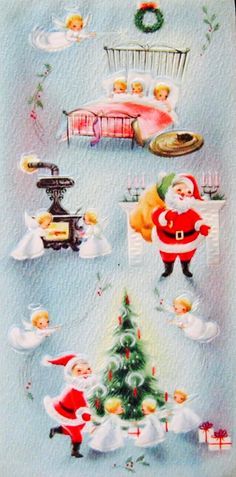 Vintage Christmas Images, Vintage Christmas Ornaments, Retro Christmas, Vintage Holiday, Christmas Pictures, Christmas Art, Christmas Glitter, Christmas Scenes, Christmas Goodies