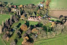 Reydon Hall in Suffolk - uk aerial