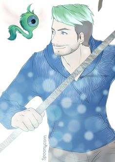 spoonycorn I bought Rise of the guardians in 3D and rewatched it for the 90465 time. That's why. °U °)….  Jack is our guardian ♥ with Baby Tooth Sam. Jacksepticeye