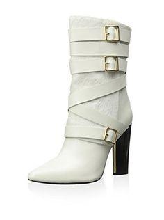 Calvin Klein Women's Zelda Ankle Boot (Cream)