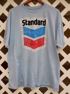 VINTAGE OUTFITTERS Standard Oil Graphic T Shirt Men's Size XXL Short Sleeve Blue #VintageOutfitters #GraphicTee Sold