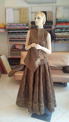 #suede#brown#chongsam#batik#brocade#flair#