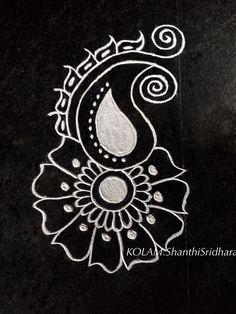 white rangoli diwali