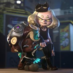 Splatoon 2 Art, Splatoon Comics, Splatoon Memes, Pearl And Marina, Gremlins, Pretty Art, Best Games, Game Art, Amazing Art