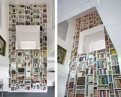 maison Haus W bibliotheque monumentale