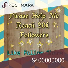 My 1st Follow Game Help Me Reach My Goal Of 20,000 Followers!!!! It's As Easy As 1 2 3 4 lol 1) Follow Me    2) Like This Listing   3) Share This Listing    4) Follow Everyone Who Like This Listing Thank You in Advance to The Poshers Who Have Been There For Me & Coached Me Thru Everything! Thanks Ladies! Guys! MICHAEL Michael Kors Other