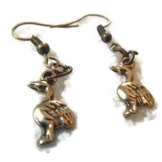 Bronze Goose Earrings by TaylorsArtsAndCrafts on Etsy