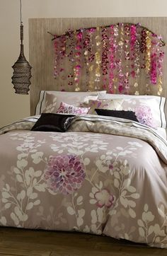 Free shipping and returns on Blissliving Home 'Kaleah' Duvet Set at Nordstrom.com. <b>Limited Time Savings: Save 20% on selected items for bed, bath and home, now through January 19, 2015.</b><br><br>Tropical blooms climb one side of a sateen duvet cover that reverses to a refined pebble-and-white chevron. Two matching shams accompany the cool-toned set.