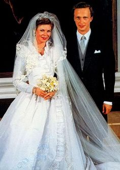 The Royal Order of Sartorial Splendor: Wedding Wednesday: Luxembourg's Almost Double Wedding-HRH Princess Marie Astrid of Luxembourg and HI Archduke Carl Christian of Austria February 6, 1982 Luxembourg City, Luxembourg
