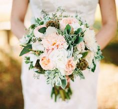 pink farm bouquet