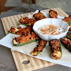 Replace bread with zucchini for this lighter, gluten-free appetizer! Easy to make and absolutely delicious!