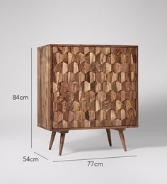 Swoon Editions Bar cabinet, mid-century style in rosewood - £379