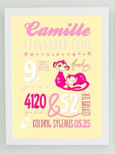 BABY BOARD - YELLOW AND PINK