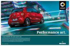 Kampagne zur Markteinführung: Die neuen smart BRABUS – Sportwagen für die Stadt