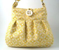 yellow Large hobo tote messenger shoulder bag by daphnenen, via Etsy.