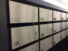 Apartment mail boxes