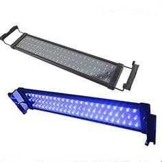 Asvert Lámpara de Acuario Luces LED 2 Modos de Iluminación para Acuarios de Peces y Estanques Soporte Ajustable con Eschufe EU (18)
