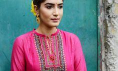 Buy Utsav by Kora Printed kurtas with Chintz skirts and palazzos Online at Jaypore.com