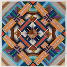 Title: November Study #2 Quiltmaker: Crow, Nancy Geographical Origin: Made in Baltimore, Ohio, United States Date: Dated 1980 Style/Type: Art (Studio Art) Dimensions (LxW): 61 x 61 Inches