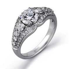 Shop online SIMON G TR461 Halo White Gold Diamond Engagement Ring at Arthur's Jewelers. Free Shipping